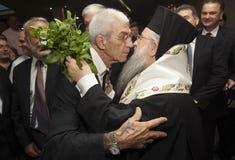 Yiannis Boutaris & Anthimos encounter Stock Photos