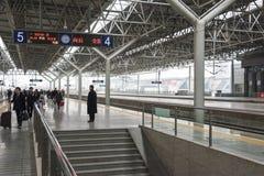 Yichang east Railway station platform Royalty Free Stock Photography