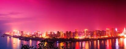 Yichang, Hubei Night Stock Photo