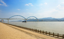 Yichang Yangtze River Bridge Stock Photos