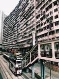 Yick Cheong Building, baía da pedreira, Hong Kong foto de stock