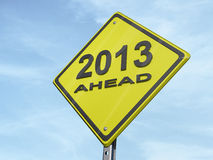 Yield 2013. A yield road sign with 2013 ahead royalty free illustration