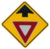 Yield Ahead. Graphic royalty free stock image