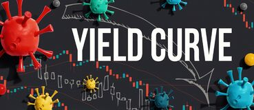 Free Yield Curve Theme With Viruses And Stock Price Charts Stock Images - 179331094