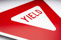 Yield Road Sign. On a white background stock images