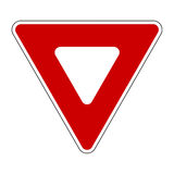 Yield Sign Royalty Free Stock Photos