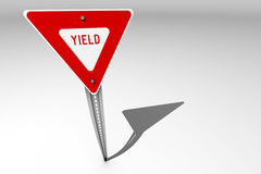Yield sign over a bright background Stock Image