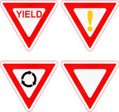 Yield Signs Royalty Free Stock Image
