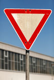 Yield traffic sign Stock Photos
