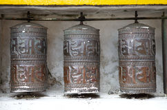 Yiga Choeling Monastery, Darjeeling, India. Details of the old prayer wheels at the Yiga choeling Monastery, Ghoom, Darjeeling, West Bengal, India. Yiga Choeling Stock Image