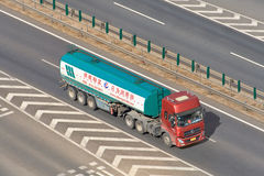Yihangwuliu tanker transport on the expressway, Beijing, China Stock Image