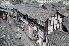 Yingjing China-Old streets Royalty Free Stock Photos