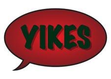 Yikes-Sprache-Blase Lizenzfreie Stockfotos