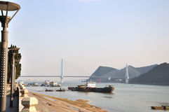 Yiling长江桥梁7 库存照片