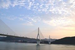 Yiling长江桥梁8 免版税库存照片