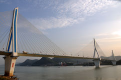 Yiling Yangtze river bridge 14 Royalty Free Stock Photography