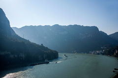 Yiling Yangtze River Three Gorges Dengying Gorge. Dengying Gap, also known as Moon Gap. Located in the east of Nanjin customs about 10 km, this canyon is narrow Stock Images