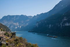 Yiling Yangtze River Three Gorges Dengying Gorge. Dengying Gap, also known as Moon Gap. Located in the east of Nanjin customs about 10 km, this canyon is narrow Stock Photos