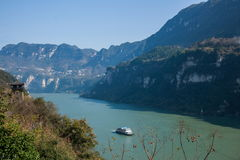 Yiling Yangtze River Three Gorges Dengying Gorge Royalty Free Stock Photos