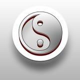 yin 3D y símbolo de yang Imágenes de archivo libres de regalías