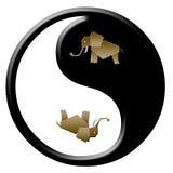 Yin de Ellephant yang ilustração do vetor