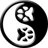 yin de yang d'impression de patte Photos stock