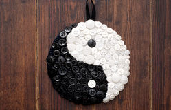 Yin e fim do sinal de yang acima Fotografia de Stock