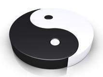 Yin e simbolo del yang Fotografia Stock
