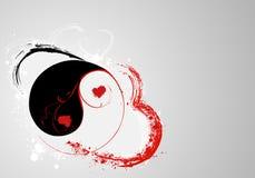 Yin e yang de S.valentine Foto de Stock
