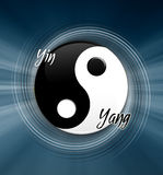 Yin en symbool Yang Royalty-vrije Stock Foto's