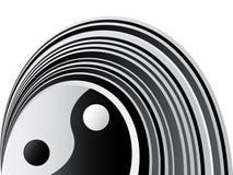 Yin en yang achtergrond Royalty-vrije Stock Foto