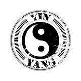 Yin en yang zegel Stock Foto