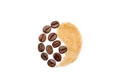 Yin et Yang, café et sucre Image stock
