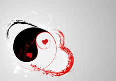 Yin et yang de S.valentine Photo stock