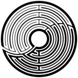 Yin et Yang Labyrinth Symbol illustration libre de droits