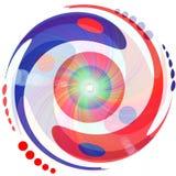 Yin et yang nageant à l'inifinity Image libre de droits