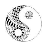 Yin och yang dekorativt symbol stock illustrationer