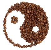 Yin och yang från kaffe royaltyfri fotografi