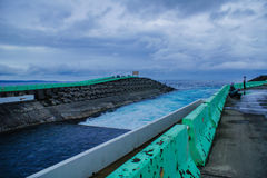 Yin och yang havsKenting nationalpark royaltyfria bilder