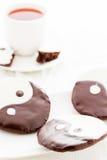Yin och yang kakor arkivbild