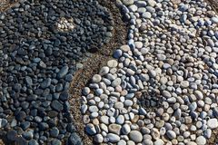 Yin und Yang von Steinen Lizenzfreies Stockbild
