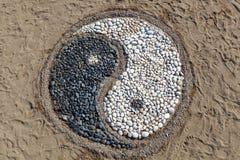 Yin und Yang von Steinen Stockbild