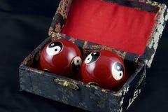 Yin y bolas de Yang Baoding foto de archivo libre de regalías