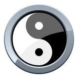 Yin y botón del metal de Yang libre illustration