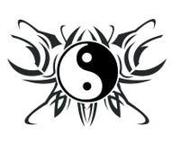 Yin y tatuaje de yang ilustración del vector