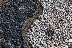 Yin y yang de piedras imagen de archivo libre de regalías