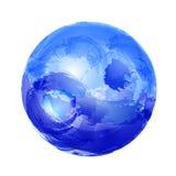 Yin y yang en agua Fotos de archivo libres de regalías