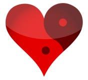 Καρδιά Yin yan ελεύθερη απεικόνιση δικαιώματος