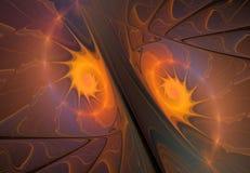 Yin yan fractal Royaltyfri Fotografi