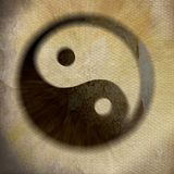 Yin yang με το κατασκευασμένο υπόβαθρο Στοκ φωτογραφίες με δικαίωμα ελεύθερης χρήσης